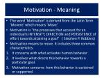 motivation meaning