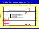 kmg g field well 4a assumed s c 250