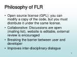 philosophy of flr