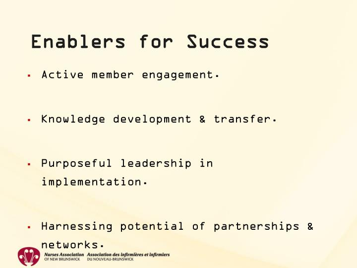 Enablers for Success