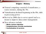 origins history