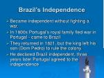 brazil s independence