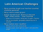 latin american challenges