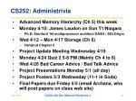 cs252 administrivia