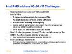 intel amd address 80x86 vm challenges