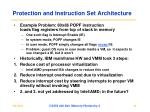 protection and instruction set architecture