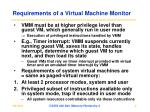 requirements of a virtual machine monitor1