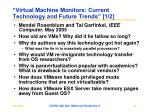 virtual machine monitors current technology and future trends 1 2