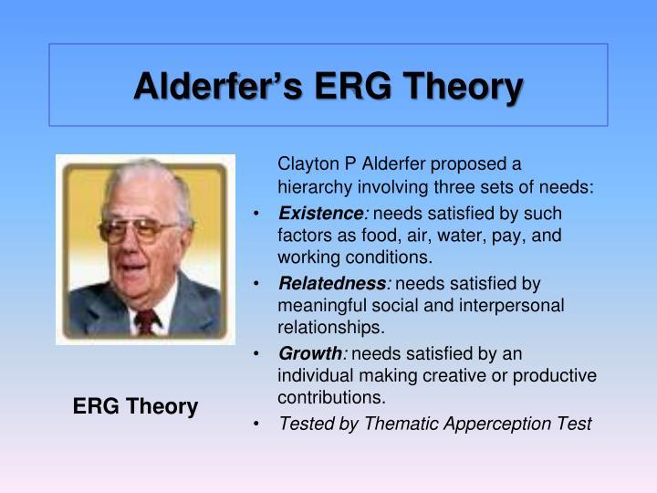 alderfer hierarchy of needs
