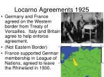 locarno agreements 1925