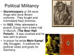 political militancy