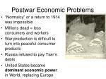 postwar economic problems