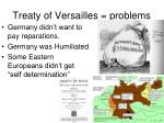 treaty of versailles problems