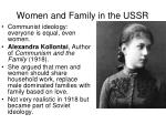 women and family in the ussr