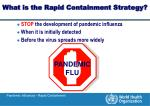 what is the rapid containment strategy