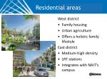 residential areas