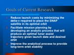 goals of current research