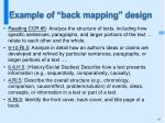 example of back mapping design