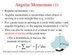 angular momentum 1