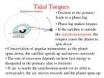 tidal torques