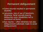 permanent disfigurement