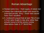 roman advantage
