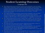 student learning outcomes language arts