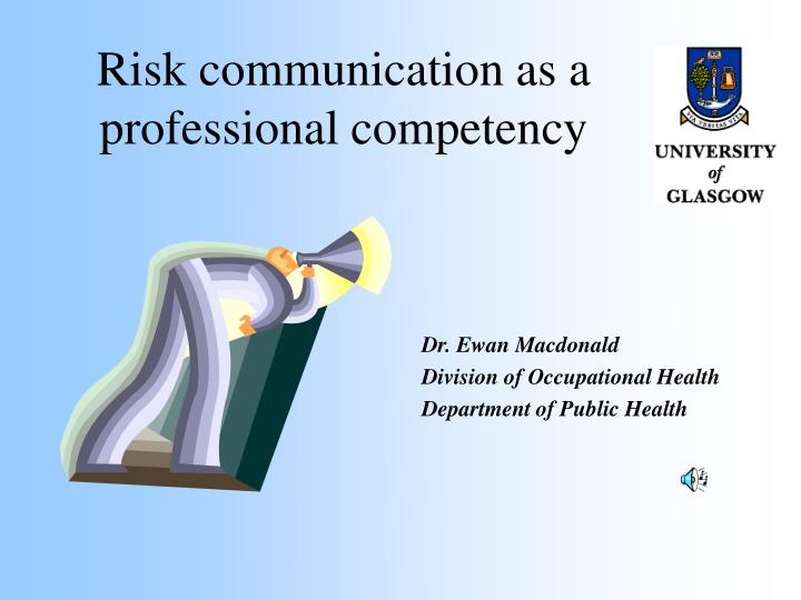 risk communication as a professional competency n.