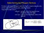 determining the polygon vertices