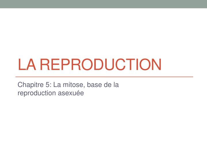 la reproduction n.