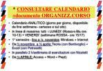 consultare calendario documento organizz corso