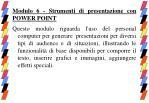 modulo 6 strumenti di presentazione con power point