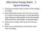 alternative energy notes 2 jigsaw reading
