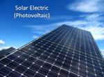 solar electric photovoltaic
