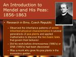an introduction to mendel and his peas 1856 1863