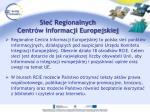 sie regionalnych centr w informacji europejskiej