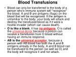 blood transfusions