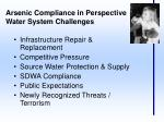 arsenic compliance in perspective water system challenges