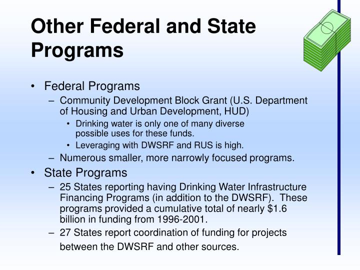 Other Federal and State Programs
