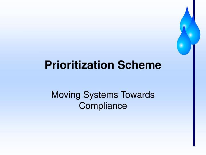 Prioritization Scheme