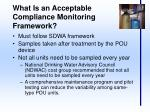 what is an acceptable compliance monitoring framework