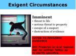 exigent circumstances