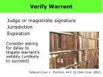 verify warrant