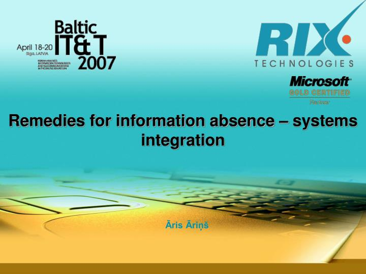 remedies for information absence systems integration n.