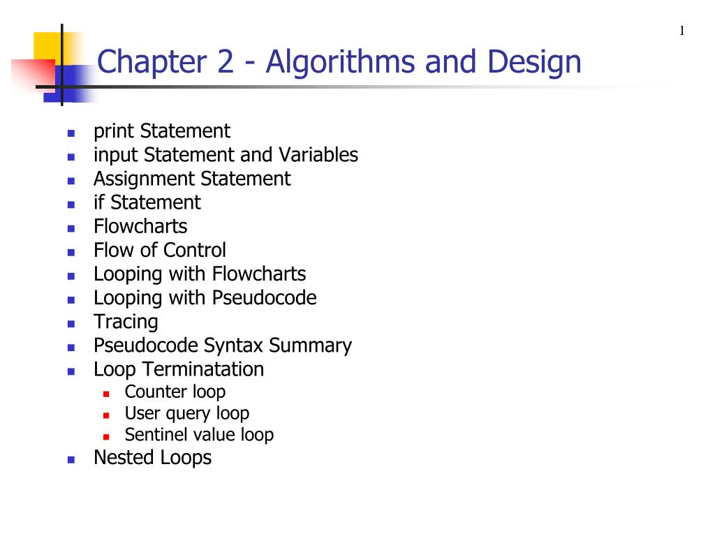 PPT - Chapter 2 - Algorithms and Design PowerPoint Presentation - ID