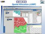 spatial allocation jump