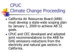 cpuc climate change proceeding