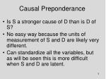 causal preponderance