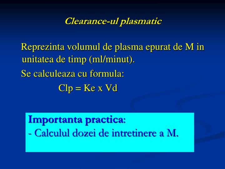 Clearance-ul plasmatic