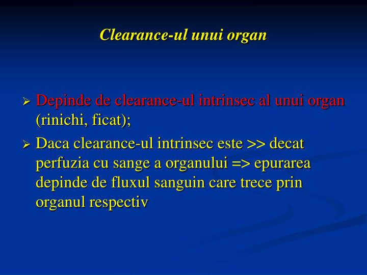 Clearance-ul unui organ